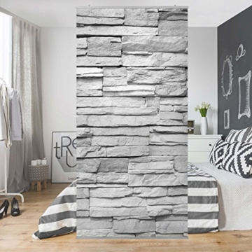 fl chenvorhang set ashlar masonry 250x120cm schiebegardine schiebevorhang raumtrenner vorhang. Black Bedroom Furniture Sets. Home Design Ideas