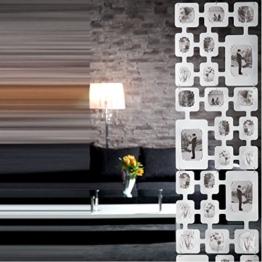 """RAUMTEILER BILDERVORHANG """"COLLAGE"""" Fotovorhang für 32 Bilder 165 cm von Xtradefactory weiß -"""