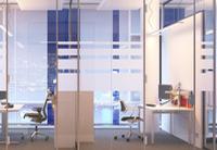 Büro mit verschiedenen Raumteilern