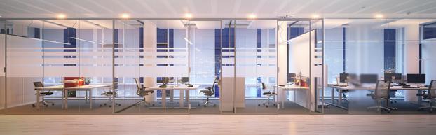 Raumteiler im Büro
