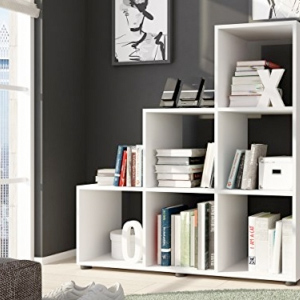 raumteiler regal in form einer wei en treppe f r dachschr gen. Black Bedroom Furniture Sets. Home Design Ideas