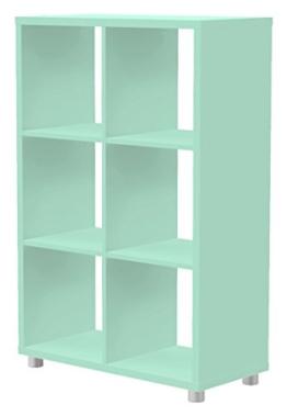 Tenzo 1826-022 Box Designer Raumteiler 2x 3, 111 x 73 x 35 cm, Spanplatte lackiert matt, pastellgrün -