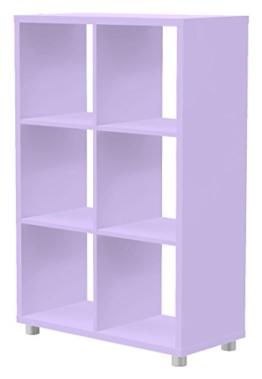 Tenzo 1826-069 Box Designer Raumteiler 2x 3, 111 x 73 x 35 cm, Spanplatte lackiert matt, flieder -
