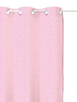 Vorhang Blickdicht Hellrosa, Sternenhimmel-Design, für Kinderzimmer -